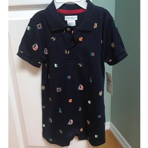 NWT Ralph Lauren boys one piece outfit. Size 24mth